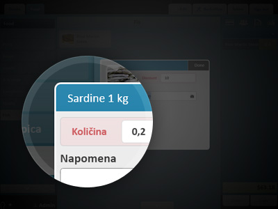 Plačilo artiklov, ki se prodajajo po kilogramu
